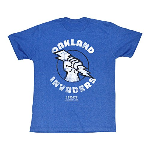 A&E Designs USFL T-Shirt Oakland Invaders Royal Heather Tee, Large