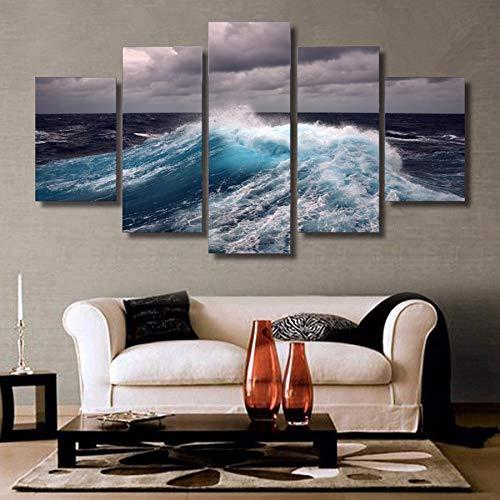 mmwin HD Impreso Nubes Olas Impresión en Lienzo decoración de la habitación impresión póster Lienzo de Imagen