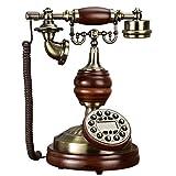 SXRDZ Línea Fija Fija con Cable de antigüedad, teléfono Europeo Antiguo teléfono, teléfono de Metal sólido Retro hogar Fijo
