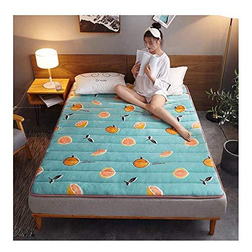 GuoEY Colchón de Cama Tatami, Alfombrilla Plegable Antideslizante, Almohadilla para Dormir de Piso Doble Individual, Siesta para Sala de Estar, Dormitorio, H, 200x220cm