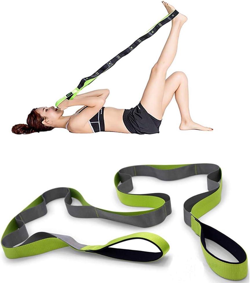JORSHIMAN Elastic Multi-Loop Yoga Band Exercise Resistance Band Stretch Strap for Yoga Pilates Dance Rehabilitation