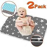 2 unidades de cambiador de bebé – Cambiador de pañales plegable para viaje,...