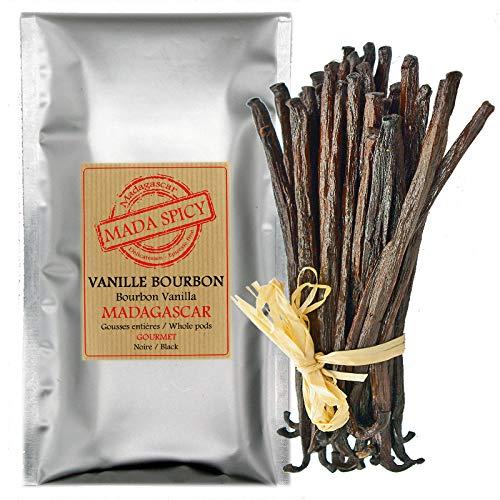 5 Vainas frescas de vainilla de Madagascar / 12-14cm.