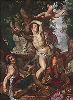 The Perfect Effect Canvas Of Oil Painting 'Joachim Anthonisz Wtewael,The Martyrdom Of Saint Sebastian,1600' ,size: 12x16 Inch / 30x41 Cm ,this Vivid Art Decorative Prints On Canvas Is Fit For Gift For Bf And Gf And Home Decoration And Gifts