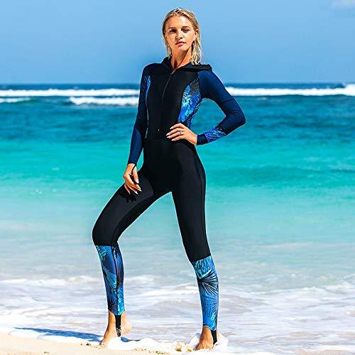 Siamese Vrouwelijke Badpak Was Dun Gedrukt Hooded Wetsuit Surf Kleding Lange mouwen Kleding Jellyfish