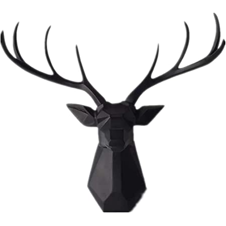 Faux Taxidermy Paper Mache Deer Head Flower Crown Wall Decor