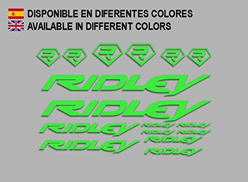 Ecoshirt My-KRDR-FCZ8 Aufkleber Ridley Bike F133 Stickers Aufkleber Decals Autocollants Adesivi, grün