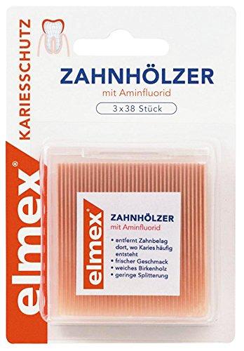 elmex Zahnhölzer mit Aminflurid, 2er Pack (2 x 114 Stück)