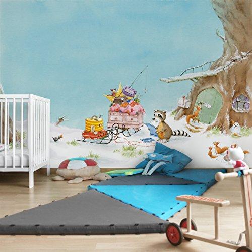 Apalis Kindertapeten Vliestapeten Wassili zieht um Fototapete Breit | Vlies Tapete Wandtapete Wandbild Foto 3D Fototapete für Schlafzimmer Wohnzimmer Küche | mehrfarbig, 94859