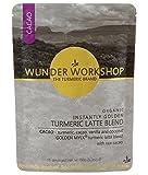 Wunder Workshop Golden Mylk Cacao Peruano con Vainilla de Madagascar (Leche Dorada de Cúrcuma) Ecológica - Sin Lactosa - Vegano, Vegetariano 150 g