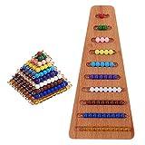 perfk 2 Juegos de Materiales de Matemáticas Montessori, Cuentas de Colores, Escaleras, Enseñanza para Niños, Educación de Aprendizaje Temprano, Regalo de Na