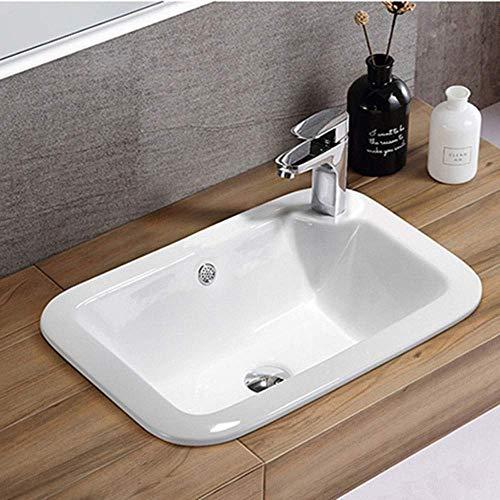 ZLXLX wastafel keramiek opzetwastafel voor kast, toilet Eitelheit, modern porselein boven de wastafel matzwart ideaal voor de badkamer 2052 (55 x 39,5 x 18 cm) zwart
