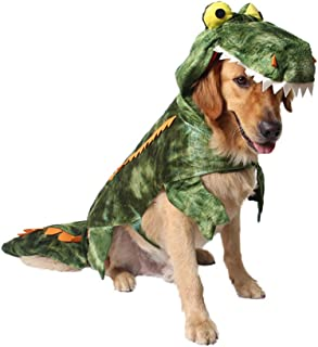 Mogoko Funny Dog Crocodile Costumes, Pet Halloween Christmas Cosplay Dress, Adorable Cat Apparel Animal Warm Outfits Clothes