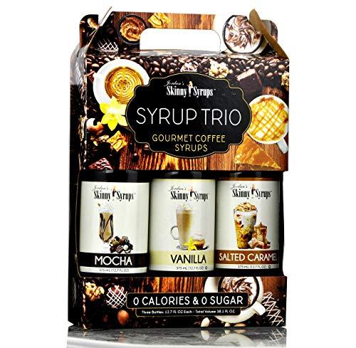 Jordan's Skinny Syrups Trio - Null Kalorien, null Zucker, Sätze köstlicher Kaffeesirupe Mokka Vanilla