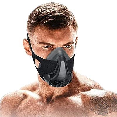 SATKULL Training Mask,24 Breathing Resistance Levels Fitness Mask Workout Mask,Training in High Altitude Mask Gym Mask for Cardio, Fitness, Running, HIIT Training