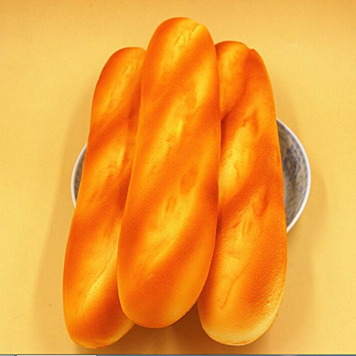 OKOKMALL US--HOT French Baguettes Jumbo Squishy Keyboard Hand Pillow Scent Loaf Bread Toy Ci