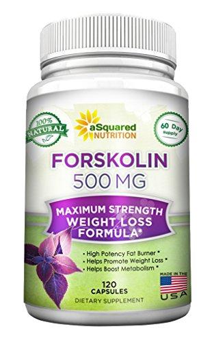 100% Pure Forskolin 500mg Max Strength - 120 Capsules, Forskolin Extract Supplement for Weight Loss Fuel, Coleus Forskohlii Root 20% Forskolin Diet Pills, Belly Buster Fat Burner 2X Slim Trim Lose