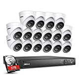 ANNKE 16-Channel 1080p True PoE NVR Kit Smart Security System with 3TB Hard Drive and (16) 1920TVL 2.0MP Weatherproof HD IP Cameras