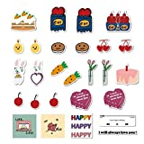27Pcs Korea Ins Cake Waterproof Stickers for Laptops Books Cars Motorcycles Skateboards Bicycles Suitcases Skis Luggage Hydro Flasks etc GY