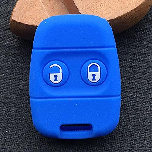 FBFGsilicone Car Key Cover para 2Buttons Remote Control Key Alarm Key Case