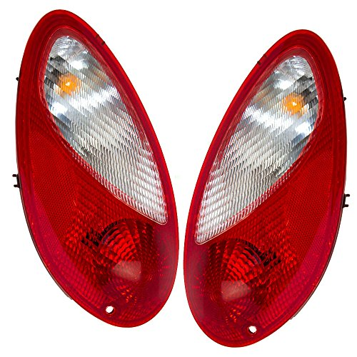 Taillights Tail Lamps Driver and Passenger Replacements for 06-10 Chrysler PT Cruiser 5116223AB 5116222AB