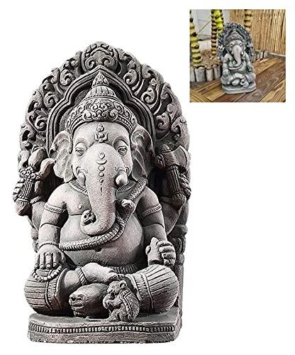 WQQLQX Statue Thailand Elefant Gott Statue Ganesha Buddha Statue Harz Skulptur Dekoration Handwerk Wohnaccessoires Art Deco Figuren Geschenke Souvenirs Skulpturen