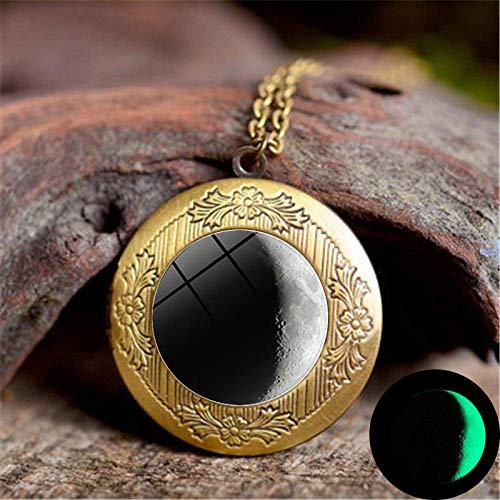 DZX Tiempo Joyas con Piedras Preciosas, Cambio de Personalidad Paisaje Lunar Arte...