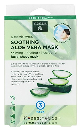 Earth Therapeutics - Soothing Aloe Vera Facial Sheet Mask - 3 Count