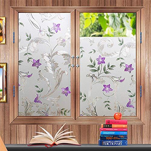 LMKJ Film de fenêtre de confidentialité et Film de Porte, utilisé pour Bloquer Les Rayons ultraviolets, Autocollants de fenêtre en pâte d'électricité Statique Autocollants en Verre A04 60x100cm