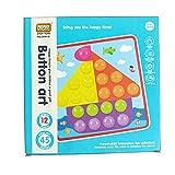 3d Puzzle juguete, para niños mosaico Seta uñas Kit Botones de montaje Niños esclarecimiento juguete para el Aprendizaje English Version