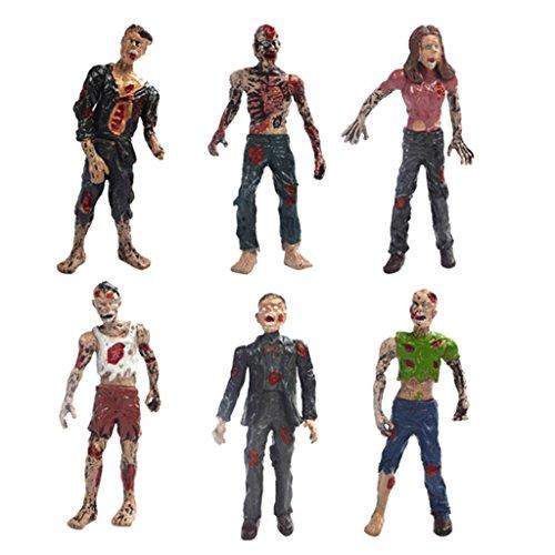MagiDeal 6pcs Personaggi Cadaveri Set Ambulanti Bambola del Film Azione Figure Zombie Giocattoli