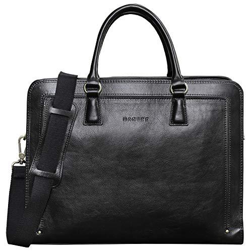 Banuce Full Grains Italian Leather Briefcase for Women Handbags 14 Inch Laptop Business Bags Attache Case Satchel Purse Ladies Work Bag Black