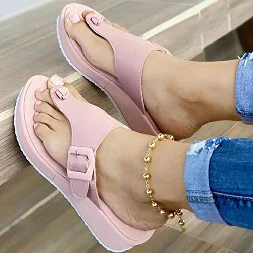 LLGG Zapatos de Playa y Piscina,Sandalias de Manguera de Playa, Zapatos de Mujer de Gran tamaño Antideslizantes-Rosa_38,Zapatillas sin Cordones para Mujer/Hombre