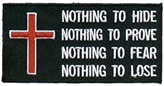Nothing Patch Embroidered Cool Christian Biker Patch!!!
