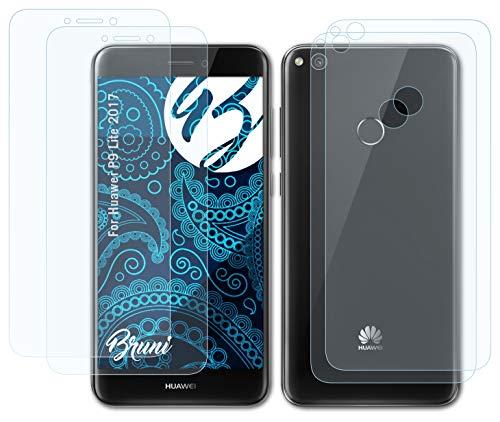 Bruni Schutzfolie kompatibel mit Huawei P9 Lite 2017 Folie, glasklare Bildschirmschutzfolie (2er Set)
