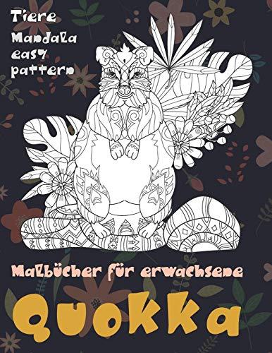 Malbücher für Erwachsene - Mandala Easy Pattern - Tiere - Quokka