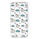 WenJie Cover para Xiaomi Redmi 4A 5.0' Nubes de Unicornio Transparente Color sólido TPU Silicona Suave Funda Case Tapa Caso Parachoques Carcasa Cubierta para Xiaomi Redmi 4A 5.0'
