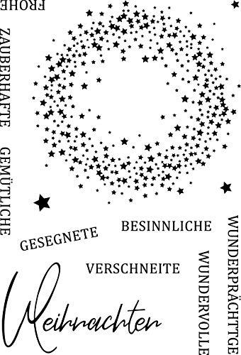 Gypsophila Hintergrund Transparenter klarer Silikonstempel/Siegel für DIY Scrapbooking/Fotoalbum Dekorative klare Stempelblätter A231