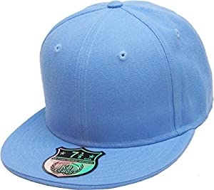 KBETHOS KNW-2364 Sky (8) The Real Original Fitted Flat-Bill Hats True-Fit, 9 Sizes & 20 Colors