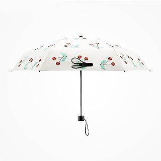 Stick Umbrellas Ultra-Light Fashion Umbrella Mini Sunshade UV Protection Umbrella Female Umbrella Dual Sun Umbrella (Color : Beige)