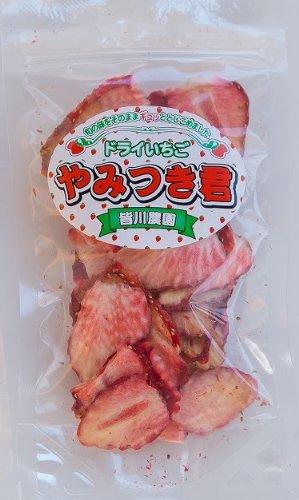 苺の本場 栃木 の 【ドライ いちご やみつき君( 乾燥 いちご)】 旬の味 をそのまま、無添加 無加糖 でぎゅっととじこめました!【Overseas Delivery】