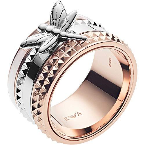 Emporio Armani -Bandring Edelstahl Perlmutt Ringgröße 58 EGS2560221-9