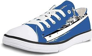 K0k2t0 Canvas Sneaker Low Top Shoes,Cartoon Illustration of Gondola in Romance City Venice European Symbol of Love Italian Decor