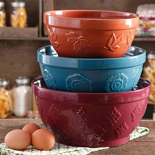 3-Piece, Cornucopia Mixing Bowl Set, The Pioneer Woman
