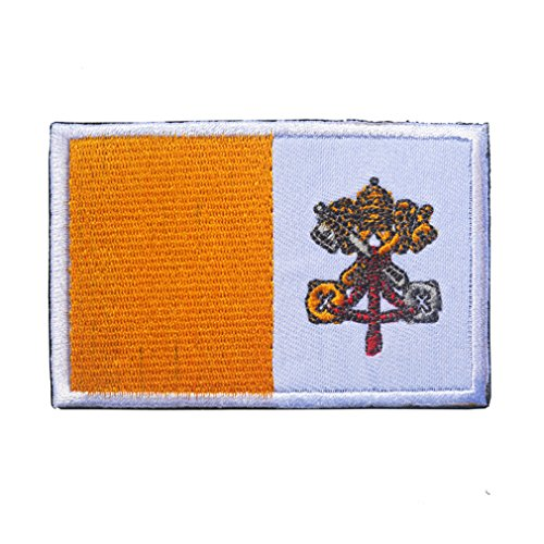 Vatican Flag Patch Embroidered Military Tactical Flag Patches