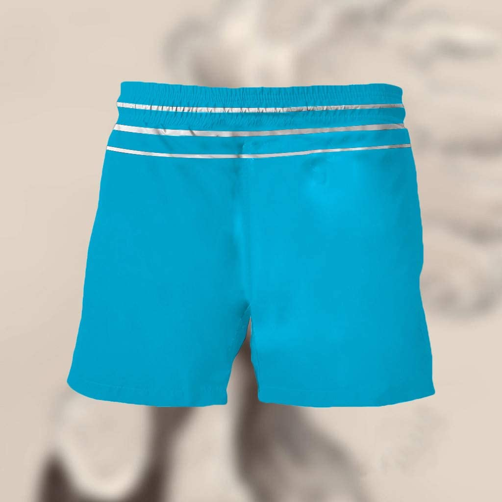 Funny Swim Trunks for Men Short Swim Trunks Summer Surf Board Shorts with Pocket Quick Dry Beach Shorts Pants