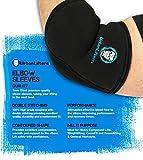 Protège coudes - Elbow Sleeves - Urban Lifters (paire) Excellent soutien, chaleur, compression, prévention des blessures et amélioration de la performance pour Pressage, WOD's, Crossfit, WeightLifting, Powerlifting & Gym Goers. Convient pour les hommes et les femmes. (L)