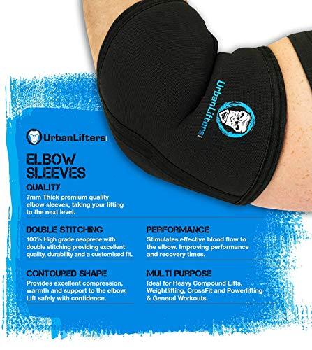 Urban Lifters Supporto Gomito - Elbow Sleeves (Coppia) Eccellente Supporto, prevenzione delle lesioni e miglioramento delle Prestazioni per Pressing, Crossfit, Weightlifting, Powerlifting (M)