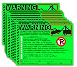 Parking Violation StickersTow Stickers for Car Vehicle 50 pcs Private Parking Warning Stickers Adhesive Car Window Fluorescent Labels 5.5X7.5 inch (Fluorescent Green)