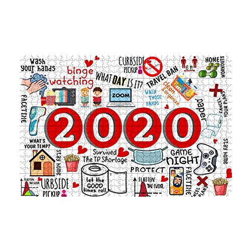 2020 Commemoration Jigsaw Puzzle, 2020 Events Jigsaw Puzzles 500 Pieces, Family Stress Relief Game, Play Collection, Home Decorations, Indoor Activity, DIY Artwork Toys for Kids Adults